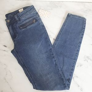 Free People Baltic Blue Skinny Jeans